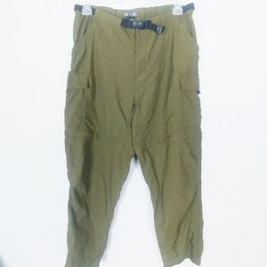 REI 16 Olive Convertible Cargo Zip Shorts/ Pants